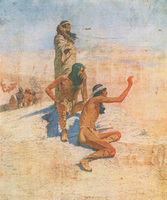 Cabeza de Vaca in the Desert by Frederic Remington, 1905. First appeared in Collier's Weekly (October 14, 1905). Courtesy Frederic Remington Art Museum, Ogdensburg, NY