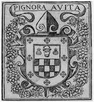 A seventeenth-century coat of arms of the House of Cabeza de Vaca