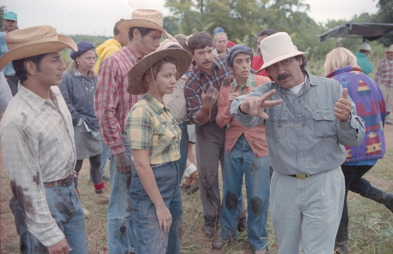 Severo Perez directing on the set. &lt;br /&gt;<br /> Photograph by Carlos Rene Perez. Severo Perez Papers, Wittliff Collections, Texas State University.