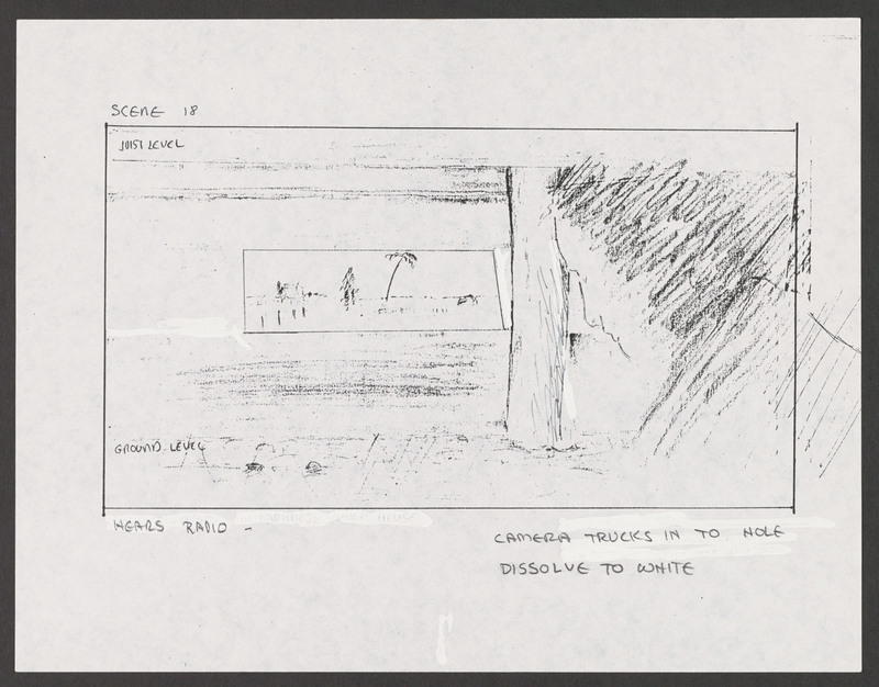 Severo Perez&amp;#039;s storyboard for the &amp;quot;under the house&amp;quot; scene. &lt;br /&gt;<br />
