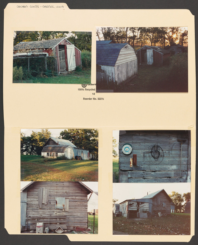 Chicken coops/migrant housing in Gardiner, Iowa. Location scouting photos by Severo Perez. &lt;br /&gt;<br />