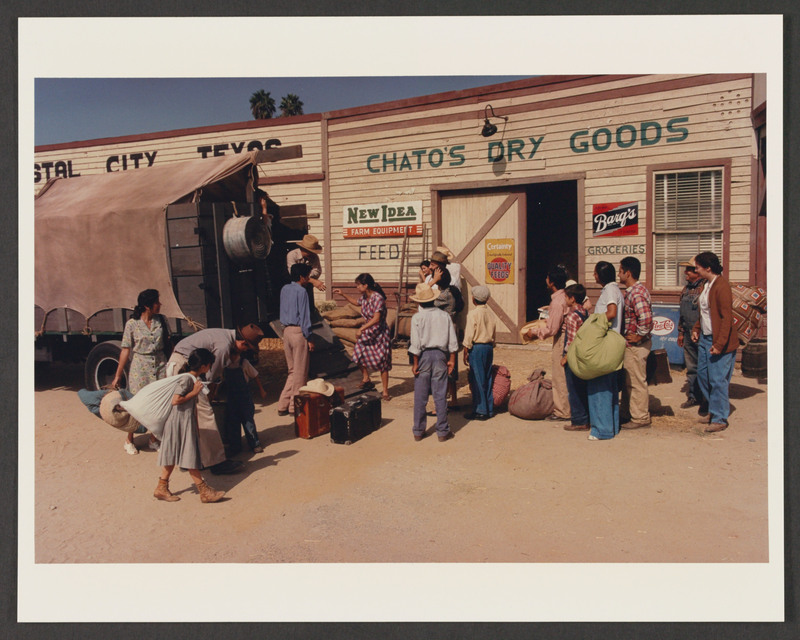 Piru, California. <br /><br /> Photo from the set by Carlos Rene Perez. Severo Perez Papers, Wittliff Collections, Texas State University.