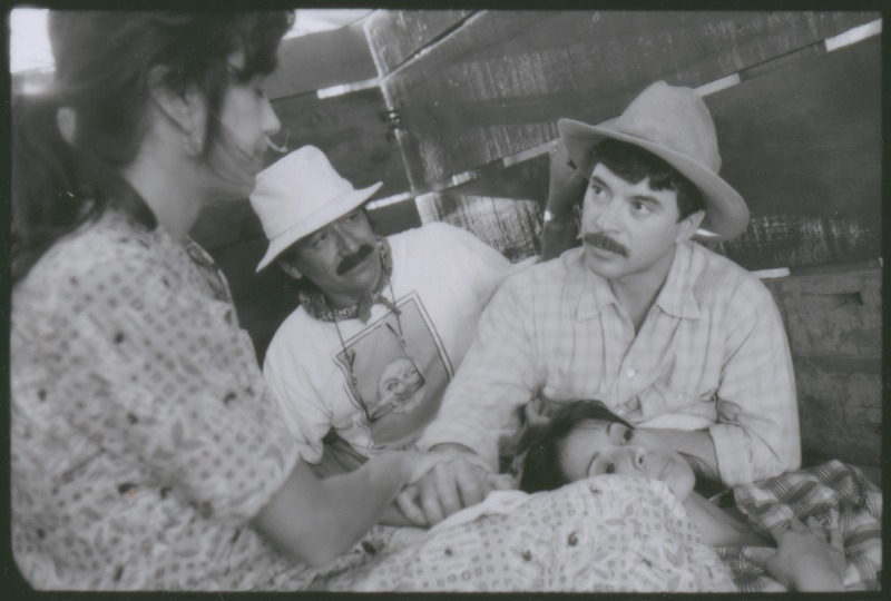 Lalo (Art Bonilla) cares for his wife, Lupita (Evelyn Guerrero) as Severo Perez directs and Florentina (Rose Portillo) looks on. &lt;br /&gt;<br />