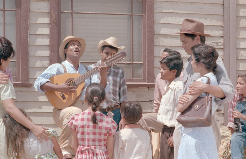 Daniel Valdez as Bartolo. <br /><br /> Photograph by Carlos Rene Perez. Severo Perez Papers, Wittliff Collections, Texas State University.