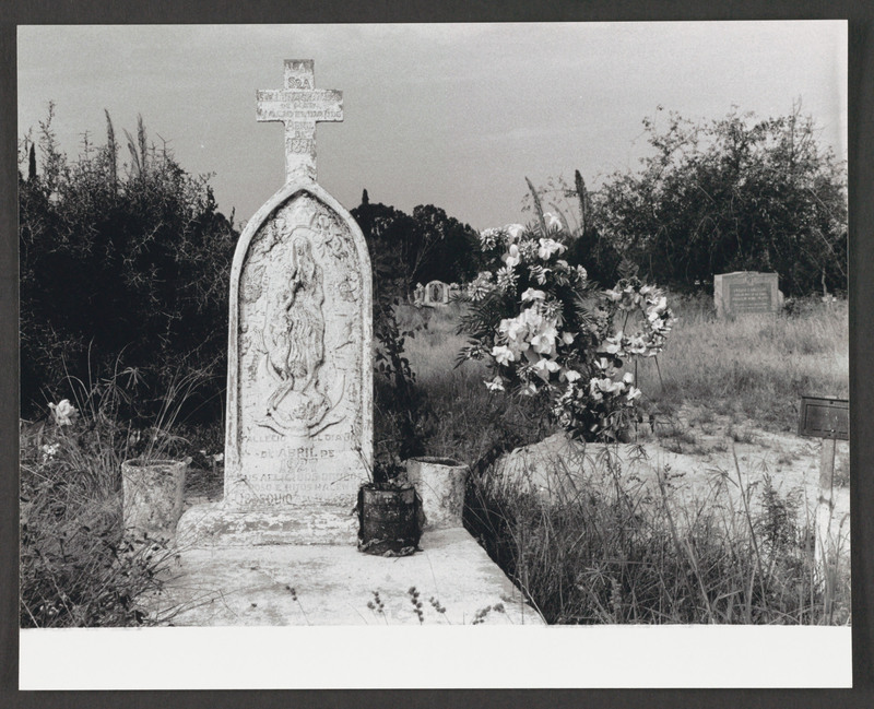 Crystal City cemetery. Location scouting photo by Severo Perez. <br /><br /> Severo Perez Papers, Wittliff Collections, Texas State University.