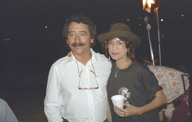 Severo Perez with Rose Portillo at the wrap party, September 13, 1992. <br /><br />