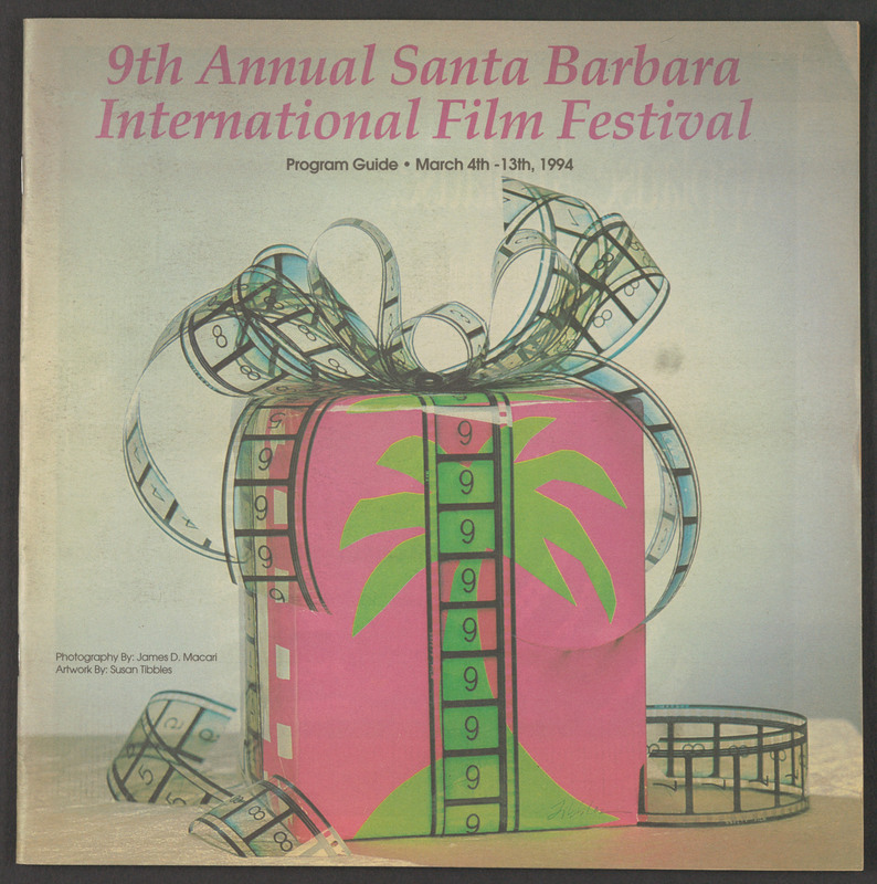 Cover of the official program for the Santa Barbara International Film Festival. &lt;br /&gt;<br />