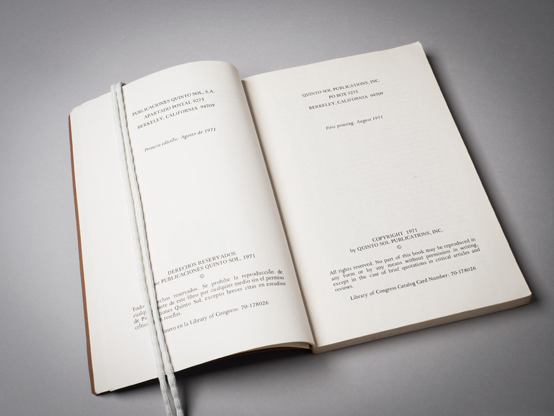 First edition of &quot;y no se lo trago la tierra,&quot; published in 1971. <br /><br />