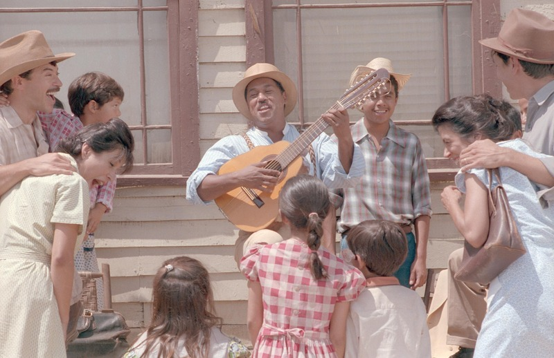 Art Bonilla as Lalo, far left, as Bartolo (Daniel Valdez) performs in &amp;quot;...and the earth did not swallow him.&amp;quot; &lt;br /&gt;<br />