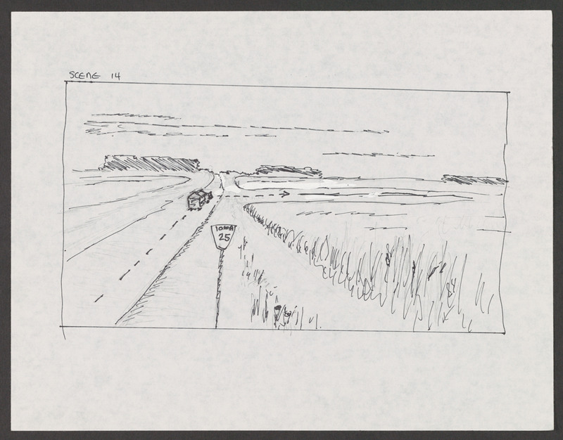 Storyboard created by writer/director Severo Perez for &quot;...and the earth did not swallow him.&quot;<br /><br /> Severo Perez Papers, Wittliff Collections, Texas State University.