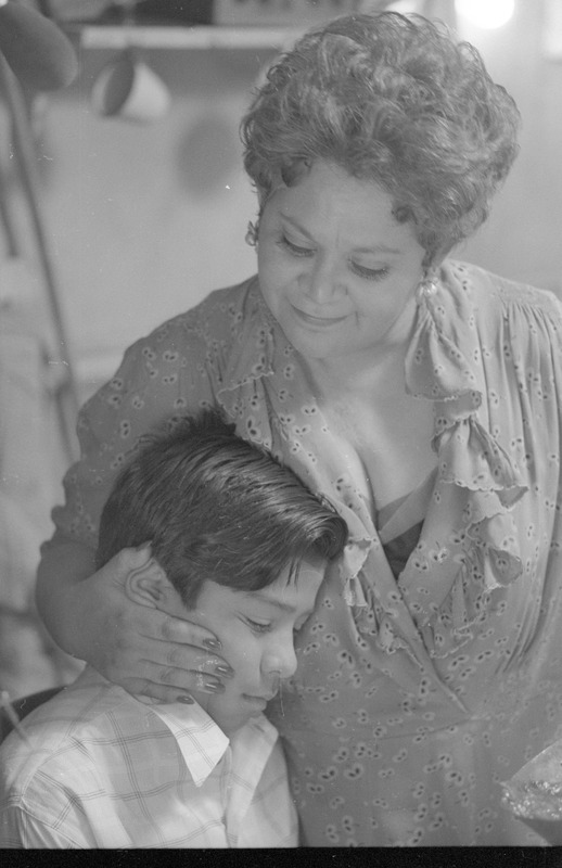 Dona Rosa (Lupe Ontiveros) hugs Marcos. &lt;br /&gt;<br />