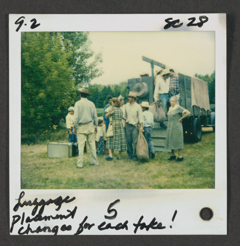 Continuity photo from the set of &quot;...and the earth did not swallow him.&quot; <br /><br /> Severo Perez Papers, Wittliff Collections, Texas State University.
