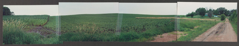 Minnesota field and farm house, location scouting photo, July 1992. <br /><br /> Severo Perez Papers, Wittliff Collections, Texas State University.