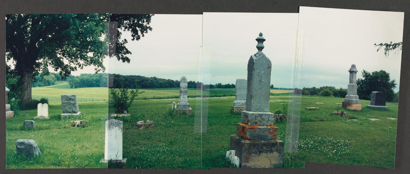 Minnesota cemetery, location scouting photo, July 1992.  <br /><br /> Severo Perez Papers, Wittliff Collections, Texas State University.