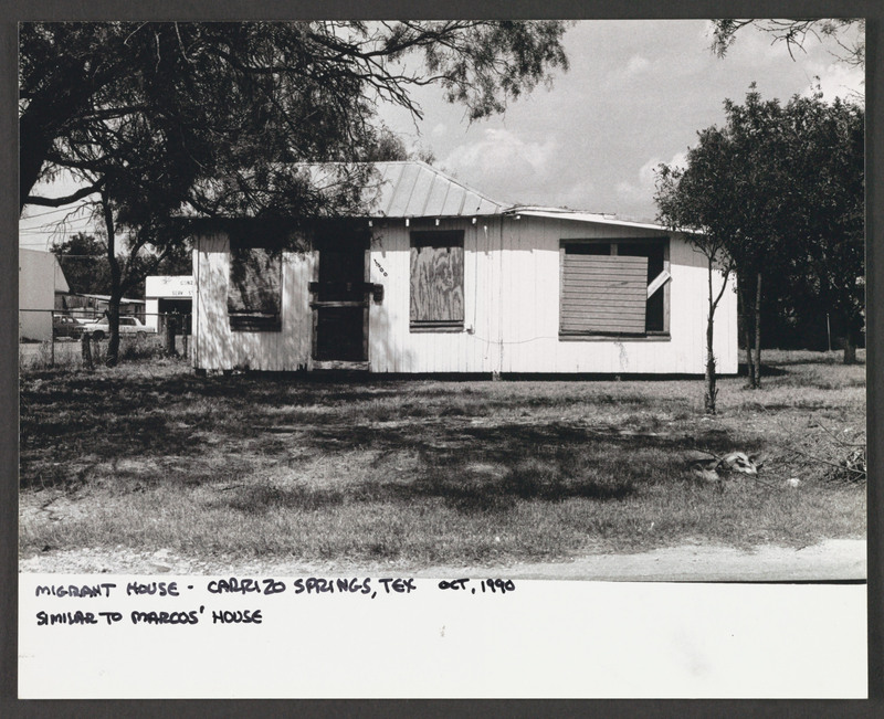 Carrizo Springs, TX. Location scouting photo by Severo Perez. <br /><br /> Severo Perez Papers, Wittliff Collections, Texas State University.