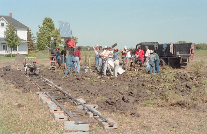 Preparing to film the scene in the sugar beet field where Marcos&amp;#039;s sister collapses. Severo Perez is at the right, conferring with José Alcala, who plays Marcos.&lt;br /&gt;<br />