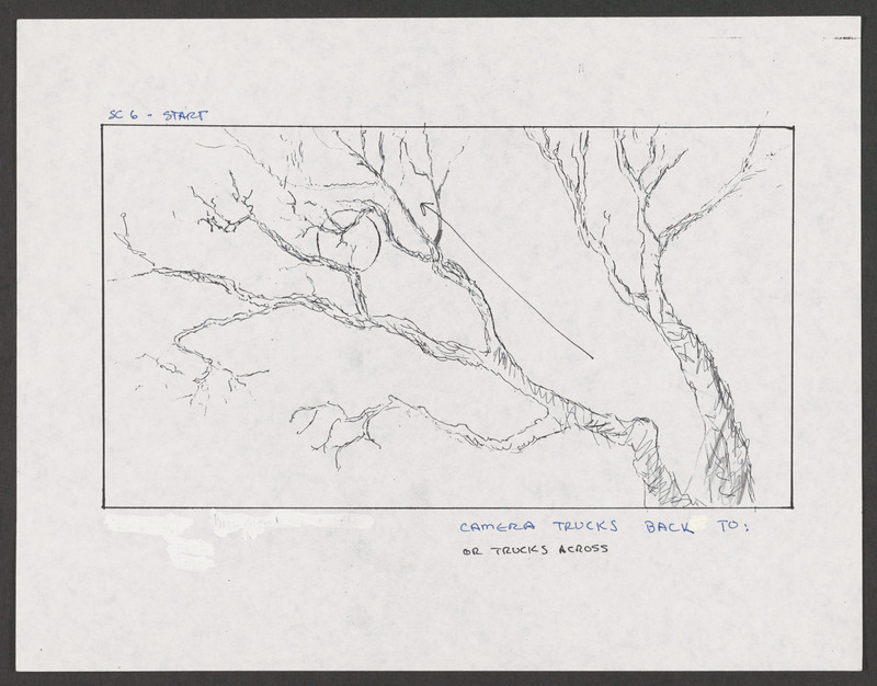 Severo Perez&#039;s storyboard for the &quot;Calling the Devil&quot; scene.  <br /><br />