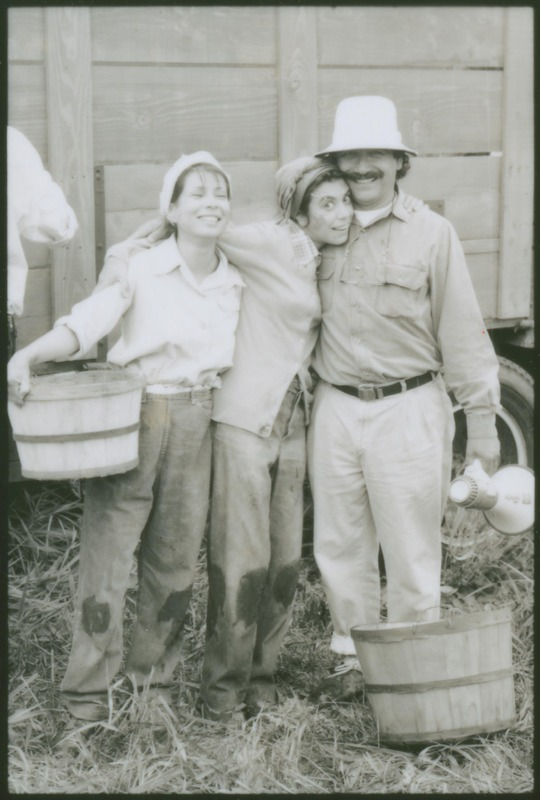 Evelyn Guerrero, left, with Rose Portillo and Writer/Director Severo Perez on the set of &quot;...and the earth did not swallow him.&quot; <br /><br /> Photograph by Carlos Rene Perez. Severo Perez Papers, Wittliff Collections, Texas State University.