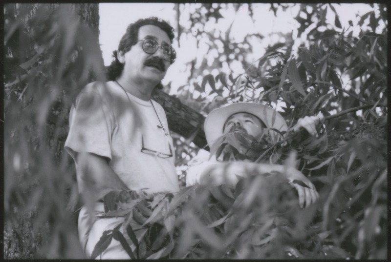 Severo Perez directing &quot;...and the earth did not swallow him.&quot; <br /><br /> Photograph by Carlos Rene Perez. Severo Perez Papers, Wittliff Collections, Texas State University.