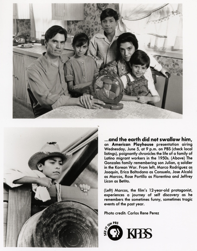 Promotional glossy sent out as part of the press kit. <br /><br /> Severo Perez Papers, Wittliff Collections, Texas State University.