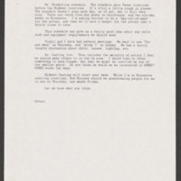 Memo from Writer, Director, and Co-Producer Severo Perez to Producer Paul Espinosa, July 6, 1992. Severo Perez Papers, Wittliff Collections, Texas State University.