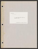 Earliest known screenplay, August 1989