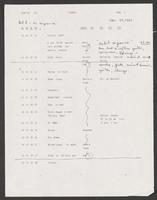 Music scoring log
