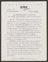 Press release announcing the NEH grant.<br /><br /> Severo Perez Papers, Wittliff Collections, Texas State University.