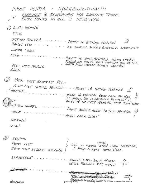 Aquarena training materials: pause points