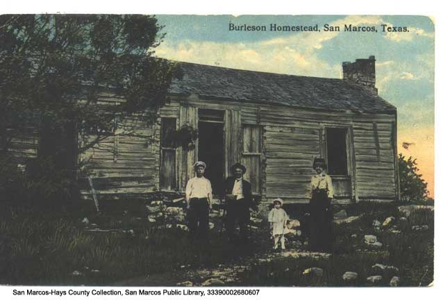 Burleson Homestead postcard