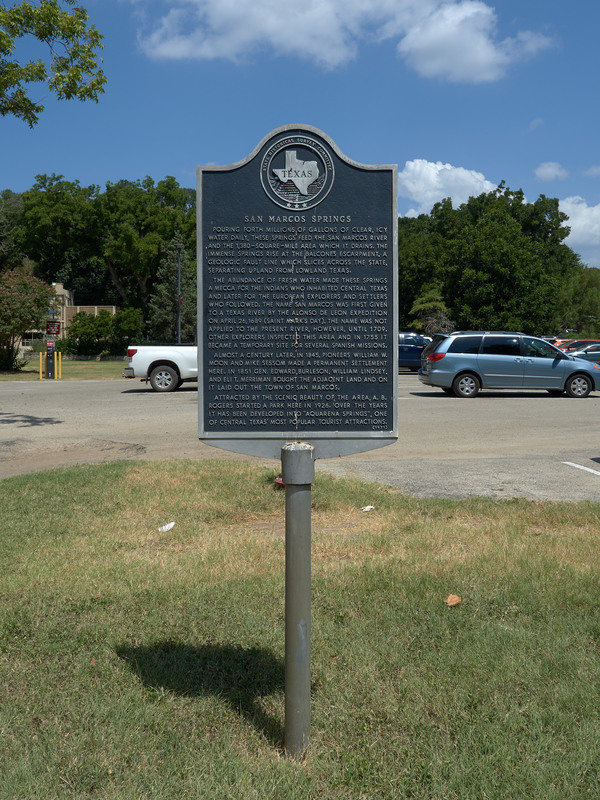 Marker for San Marcos Springs