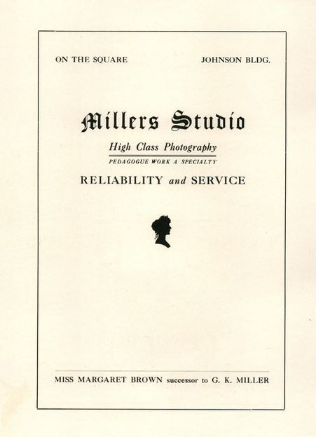Millers Studio advertisement