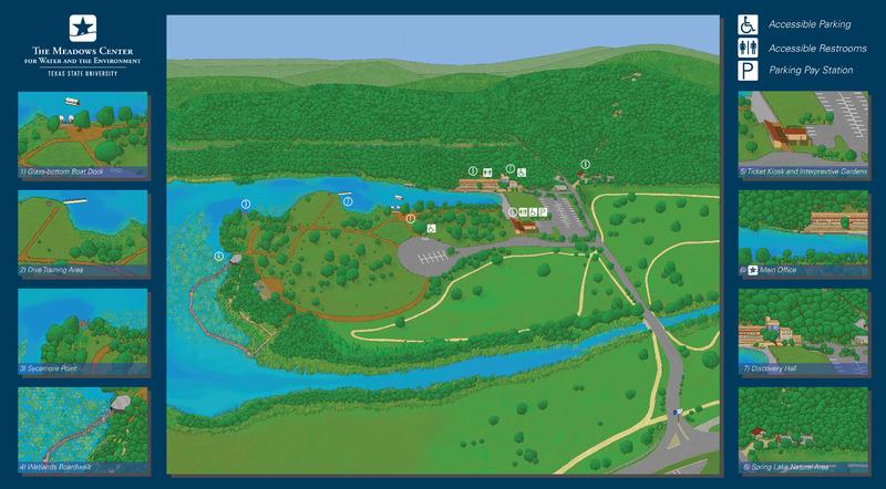 Meadows Center map of Spring Lake