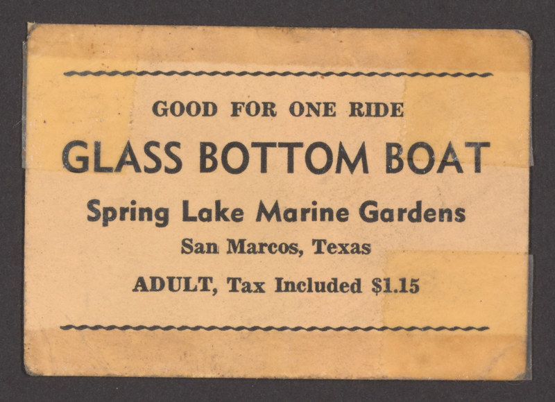 Ticket for Glass-Bottom Boat