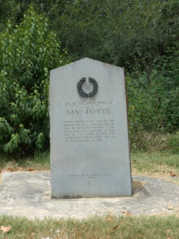 Marker for San Marcos de Neve
