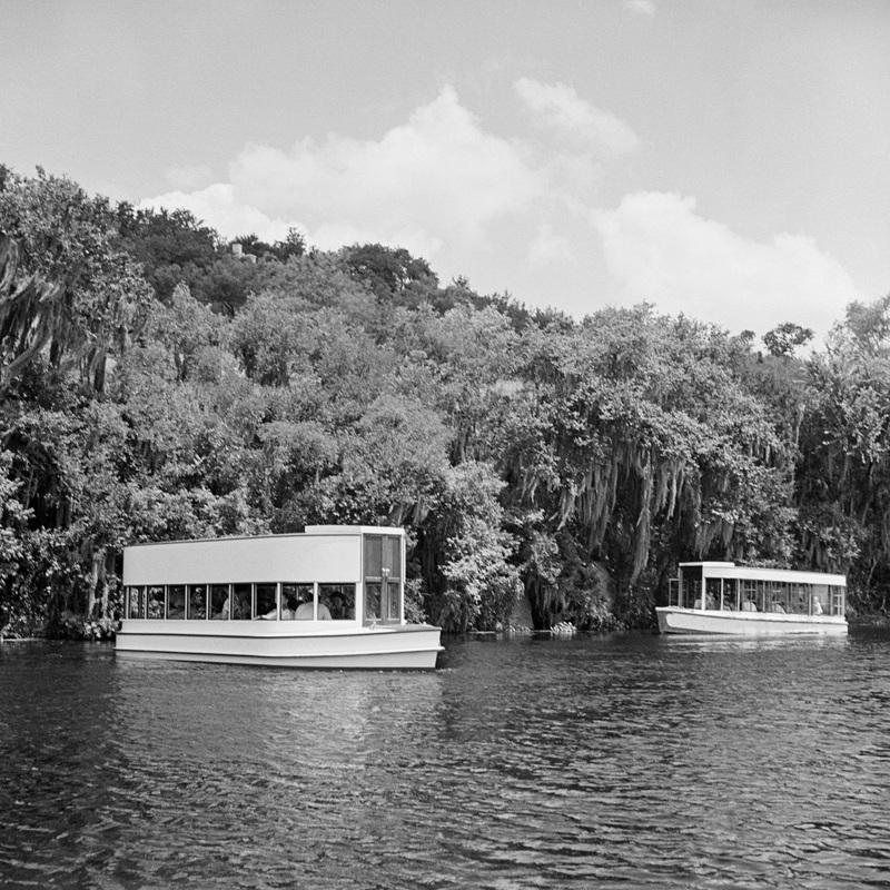 Glass-bottom boats on Spring Lake, circa 1950s<br /><br />