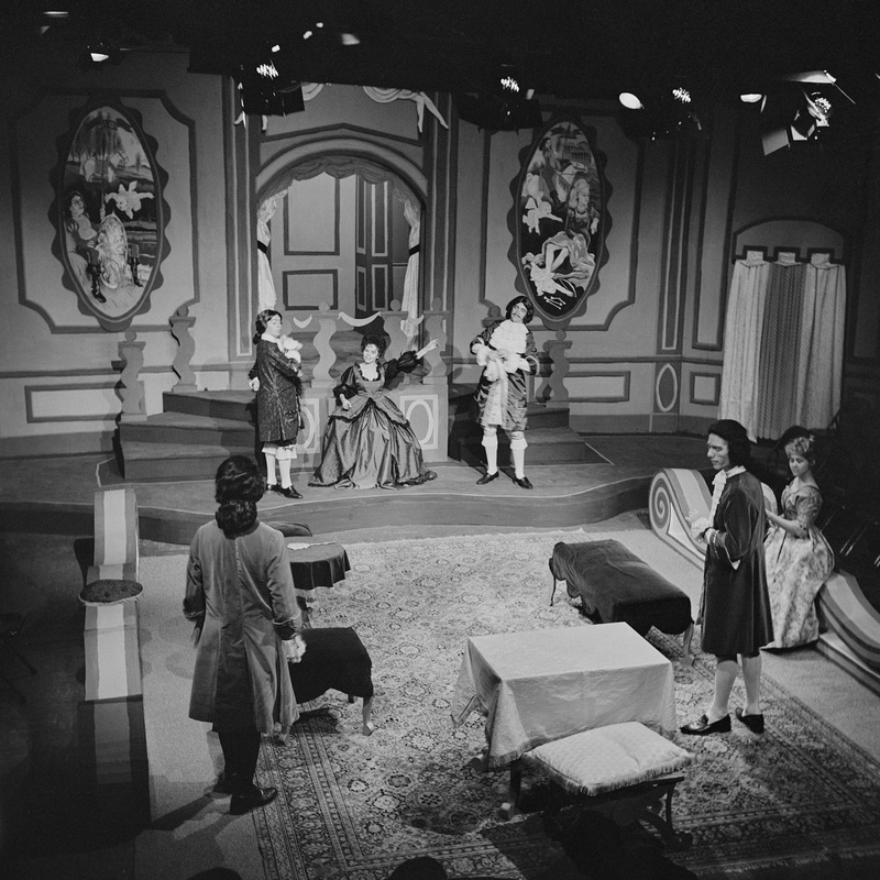 """Scene from """"The Misanthrope.""""  Performed October 22-27, 1963.<br /><br />"""