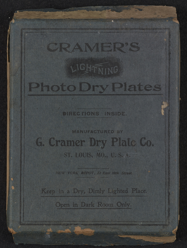 Images of glass plate negative boxes.